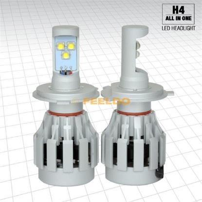 Picture of Car 12V~24V H4/9003/HB2 60Watt/6400lm  LED Headlight Kit Light Bulbs All-IN-ONE