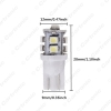 Picture of Bright T10 Wedge 168 194 W5W Car LED Light Bulbs 1210 10SMD 12V 7 Colors