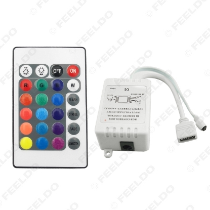 Picture of Car 5-24V LED IR Controller 24 Keys Remote Wireless Controller For 3528 5050 RGB LED Strip Lights