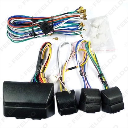 Picture of Universal Car Power Window 8PCs Switches With Holder And Wire Harness