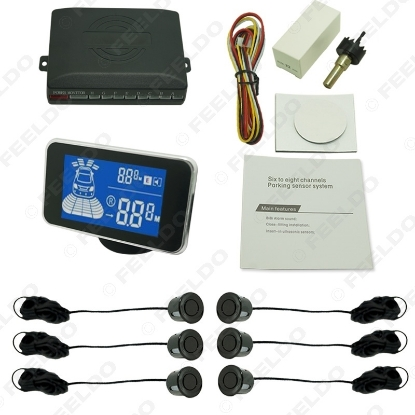 Picture of New Car 6 Sensors Front And Rear Parking Distance Digital Dual Display Parking Sensor 10-Color