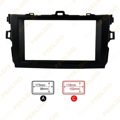 Picture of Black 2DIN Car Refitting Radio Stereo DVD Frame Fascia Dash Panel Installation Kits For Toyota Corolla(08~10)