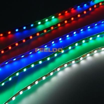 Picture of 1pcs 12V 45cm Super Waterproof 45-LED SMD 3528 RGB Flashing Flexible Car Decoration Strip Light
