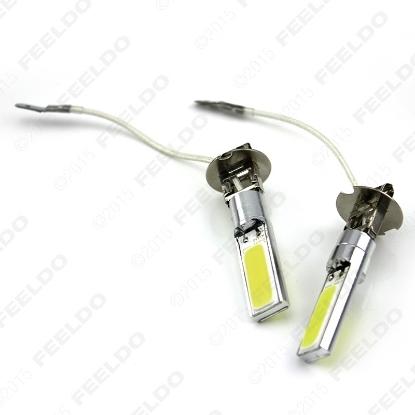 Picture of 1pcs White H3 COB Dual-Side 24SMD 10W Car LED Fog Lights Head Lamp Light Bulb 12V