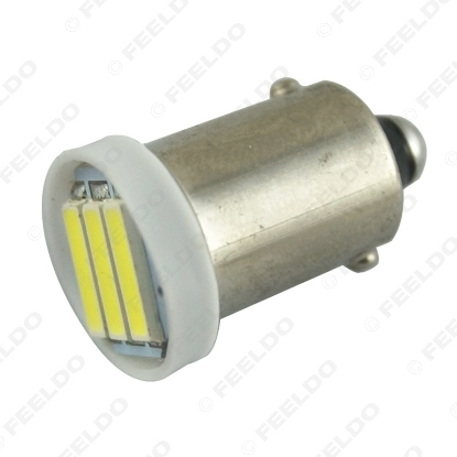 Picture of Super White 1.5W Car BA9S T4W 1895 7014/7020 Chip 3SMD Festoon Dome LED Light Bulbs