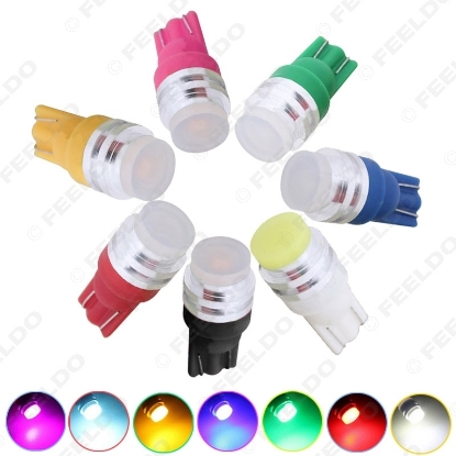 Picture of 1pcs High power T10 W5W 1W COB Flood Ceramic Interior Car LED Light Lamp White/Blue/Red/Green/Yellow