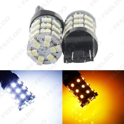 Picture of 1pcs 7443 T20 1210 60SMD Dual Color White/Amber Switchback Car Turnning Signal Backup LED Lights