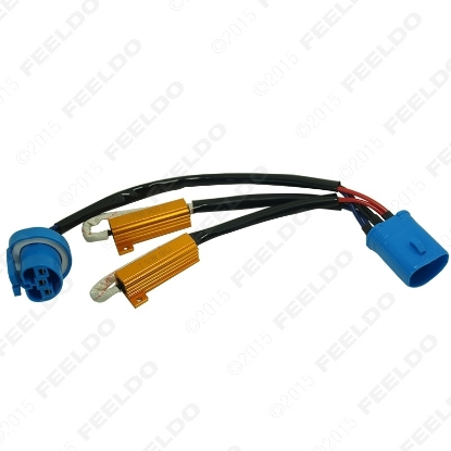 Picture of 9007 HID Conversion Kit Error Free Load Resistors Wiring Harness Adapters LED Decoder LED Warning Canceller