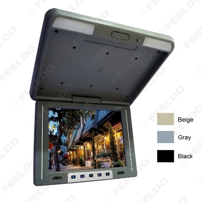 """Picture of 12.1"""" Flip Down TFT LCD Monitor Car/Bus Monitor Roof Mounted Monitor 2-Way Video Input 3-Color"""