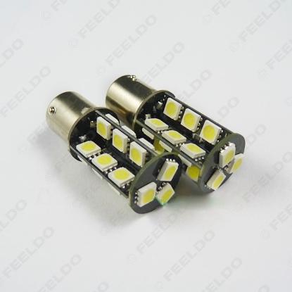 Picture of 1pcs White BA15S/1156 5050SMD 27leds P21W Car LED light Bulbs Turn Stop Brake Signal Light