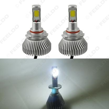 Picture of 1set Super White 9006 60W 6400LM Car COB LED Headlight Kit Fog Lamp Bulbs Light Xenon 6000k