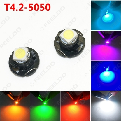 Picture of 1pcs Auto Car T4.2 1SMD 5050 Chip LED Dashboard Meter Panel LED Light Bulb 7-Color