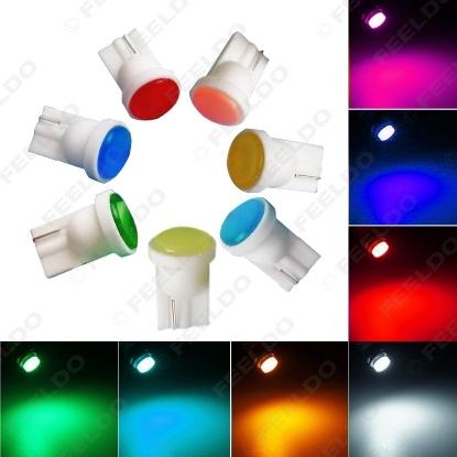 Picture of 1pcs Car T10 194 COB W5W 6-LED Wedge Door Side Interior Bulb Lamp Car LED Light DC12V 7-Color