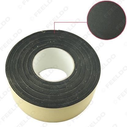 Picture of Black EVA Single-sided Adhesive Foam Tape Sponge EVA 2mm Thick Sealing Tape Width 70mm Length 10m