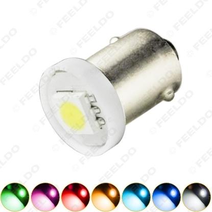 Picture of 1pcs DC12V Car BA9S T4W 1895 5050 1SMD 1LED Lamp Car LED Light Bulbs Reading Light 7-Color
