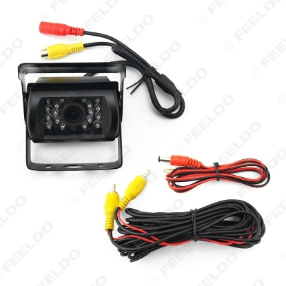 Picture of 24V Bus Truck 170 Degree Rearview Night Vision IR Camera Car Camera with Video Cable