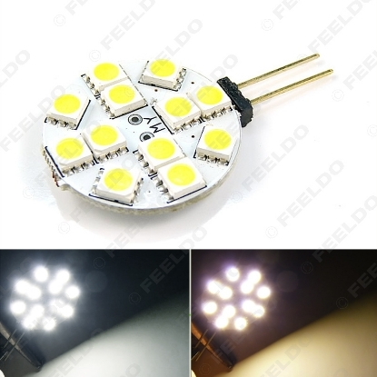 Picture of 1pcs White/Warm White Car Home Boat G4 12SMD 5050 12LED Reading LED Light Cabinet Bright Intensity Light