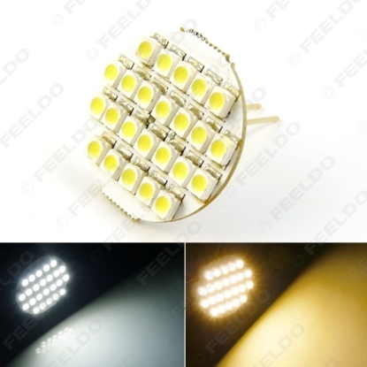 Picture of 1pcs White/Warm White Car Home Boat 24SMD G4 3528 24LED Reading LED Light Cabinet Bright Light Bulb
