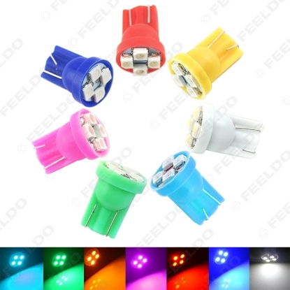 Picture of 1pcs High Power 1210/3528-4SMD T10/W5W/194/168 Car LED Light Bulbs 7 Colors