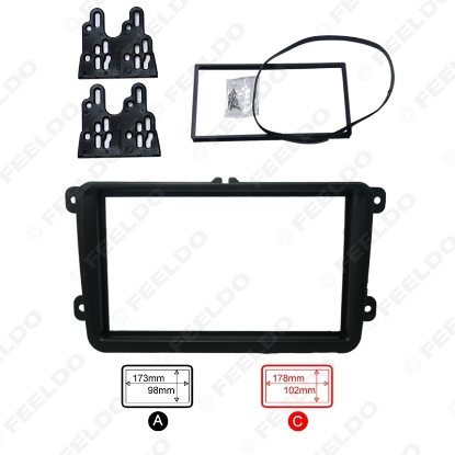 Picture of Car DVD/CD Radio Stereo Fascia Panel Frame Adaptor Fitting Kit For Volkswagen Passat/Touran/Jetta/Golf/Caddy/EOS/FOX