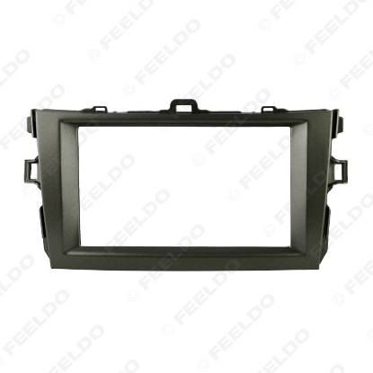 Picture of Grey Car Refitting 2DIN Radio Stereo DVD Frame Fascia Dash Panel Installation Kits For Toyota Corolla(08~10)