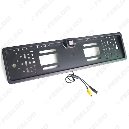 Picture of Auto Special European License Plate Mount Rear View Camera with Guide Lines Backup Camera