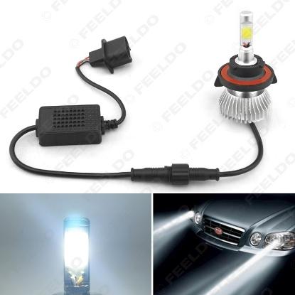 Picture of Super White H13 Hi/Lo 60W 6400LM Car COB LED Headlight Kit Fog Lamp Bulbs Light Xenon 6000k