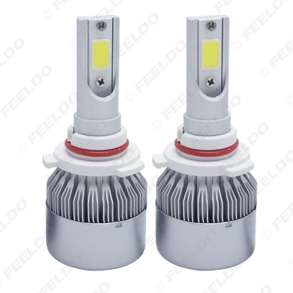 Picture of All In One Car LED Headlight 2-COB 6500K 72W 7600LM HB3/9005 Auto LED Bulb Foglight Headlamp