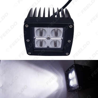 Picture of 3.2 Inch 12W LED Work Light for Car Motorcycle Indicators Spot/Flood Beam Driving Offroad Boat SUV LED Spotlight
