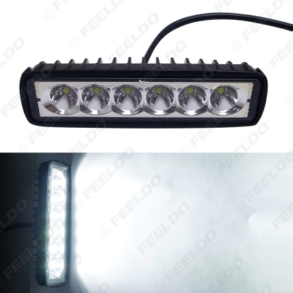 Picture of Waterproof White Car 18W Bar 6LED Daytime Running Light DRL Fog Lamp Light Work Light Off Road Floodlight