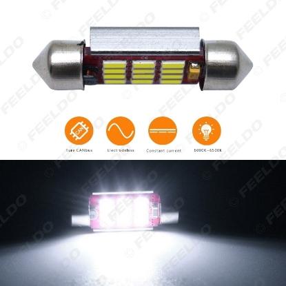 Picture of 1pcs DC12V~14.5V 36mm 6000~6500K White 12SMD 4014 Festoon LED Light Bulb With CANbus/Electrodeless/Constant Current