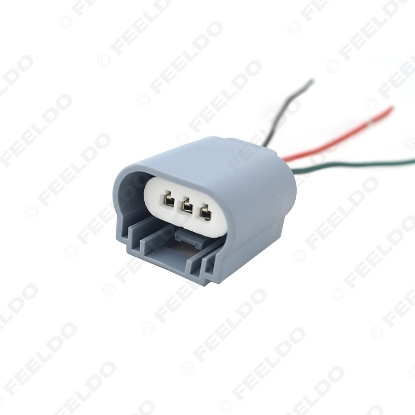 Picture of Auto H13/9008 Headlight Extension Socket Connector Ceramic Hitemp Plug Car Fog Lmap Styling Wiring Harness