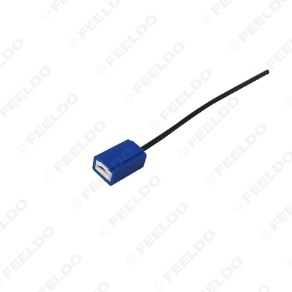 Picture of H1/h3 female ceramic Heat Resistance Headlight Wiring Harness lamp holder socket CONNECTOR TER BULB