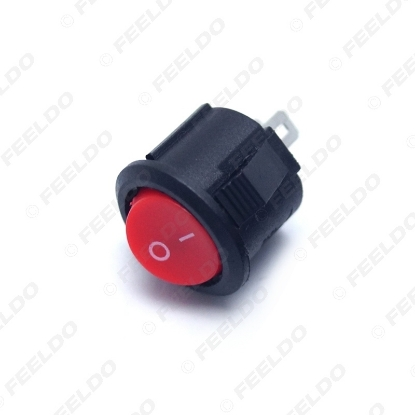 Picture of 2-Pin 16.5mm Dia Round Button 3A/250V 6A/125V Car/Auto/Boat Rocker SPST Switch ON/OFF