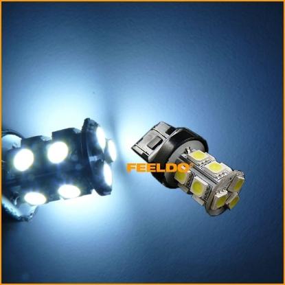 Picture of 1pcs White 7443 T20 13LED 5050SMD Tail Turn Signal LED Light Bulbs
