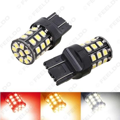 Picture of 1pcs DC12V T20/T25 7443 33LED 2835SMD Car Turn Brake Tail Headlight Signal LED Light Bulb 3-Color