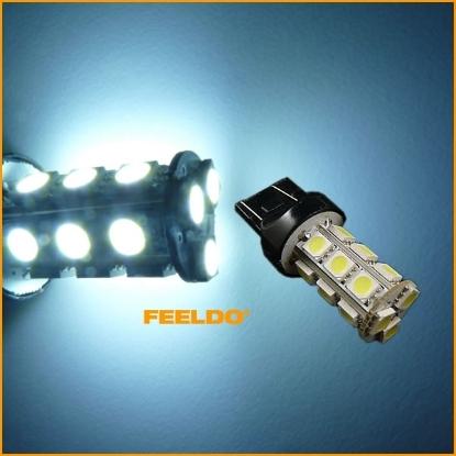 Picture of 1pcs White 7443 T20 18LED 5050SMD Tail Turn Signal LED Light Bulbs