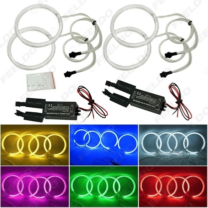 Picture of 4x Car CCFL Halo Rings Angel Eyes LED Headlights for BMW E32 E34 E30 DRL Car-Styling 6-Color