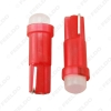 Picture of 1pc Car T5 COB LED Ceramic Dashboard Gauge Instrument Wedge Base Auto Side Wedge LED Light Lamp Bulb 7-Color