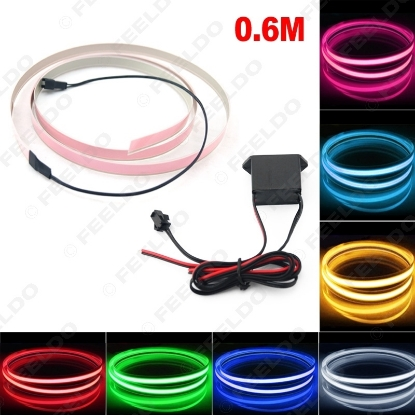 Picture of 1set 100CM*14MM 1m Electroluminescent Tape EL Wire Cold Light Strip Car Ambient Light DC 12V 10 Colors