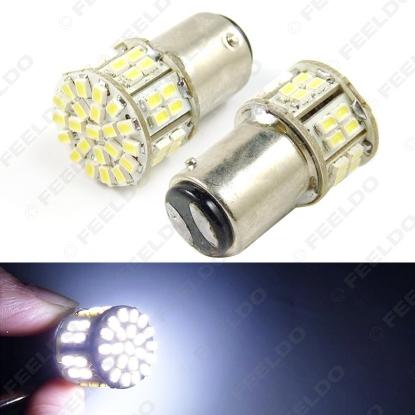 Picture of 1pcs White 1157 BAY15D 50SMD 1206 LED Light Car Brake Signal Light Bulbs