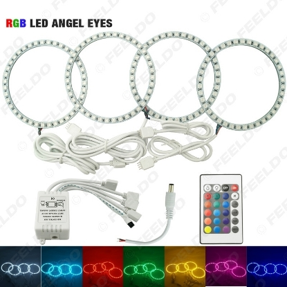 Picture of 1Set Car RGB 5050SMD LED Flash Angel Eyes Halo Ring Light for BMW E30/E32/E34 DRL Headlight
