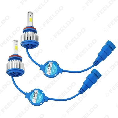 Picture of Bright H8/H9/H11 6000K 48W 5200LM Car LED Headlights COB Chips Car Fog Light Bulbs Xenon Light with Fan