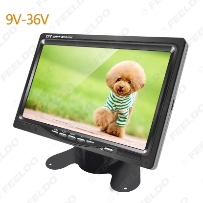 Picture of DC9V-36V 7 Inch Color TFT LCD Rear View Monitor Headrest Stand-alone Display For Auto DVD VCD Reversing Camera