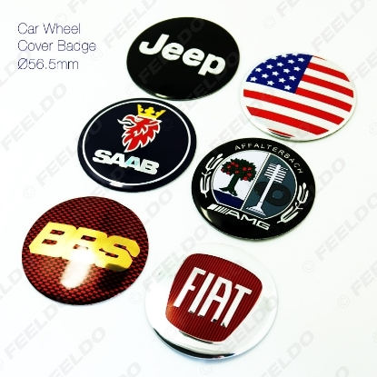 Picture of 1pcs New 3D Car Wheel Cover Badge Wheel Center Cap Emblem Decals For Mix Car Logos