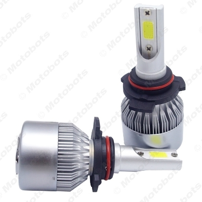 Picture of All In One Car LED Headlight 9012 2-COB 6500K 72W 7600LM Auto LED Bulb Foglight Headlamp