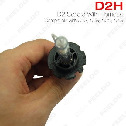 Picture of 1pair 35W D2H HID Xenon Light Bulbs Compatible with D2S/D2R/D2C/D4S for Retrofit