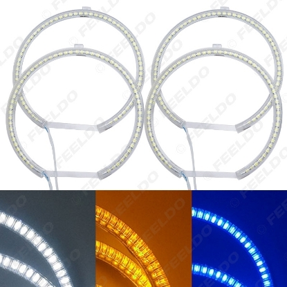 Picture of 4pcs/Set Car LED Halo Rings Angel Eyes DRL Head Lamp For BMW E39 OEM(01-03)