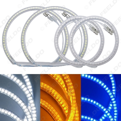 Picture of Auto SMD Angel Eyes Light Halo Rings DRL For BMW E87 Headlight 3-Color