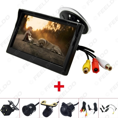 """Picture of 5"""" TFT LCD windshield Monitor With Rear View Backup Camera RCA Video System 2.4G Wireless & Cigarette Lighter Optional"""